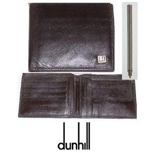 Dunhill London Wallet w Hidden Pen + Coin Pocket